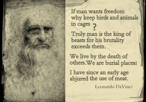 Leonardo Da Vinci on Vegetarianism