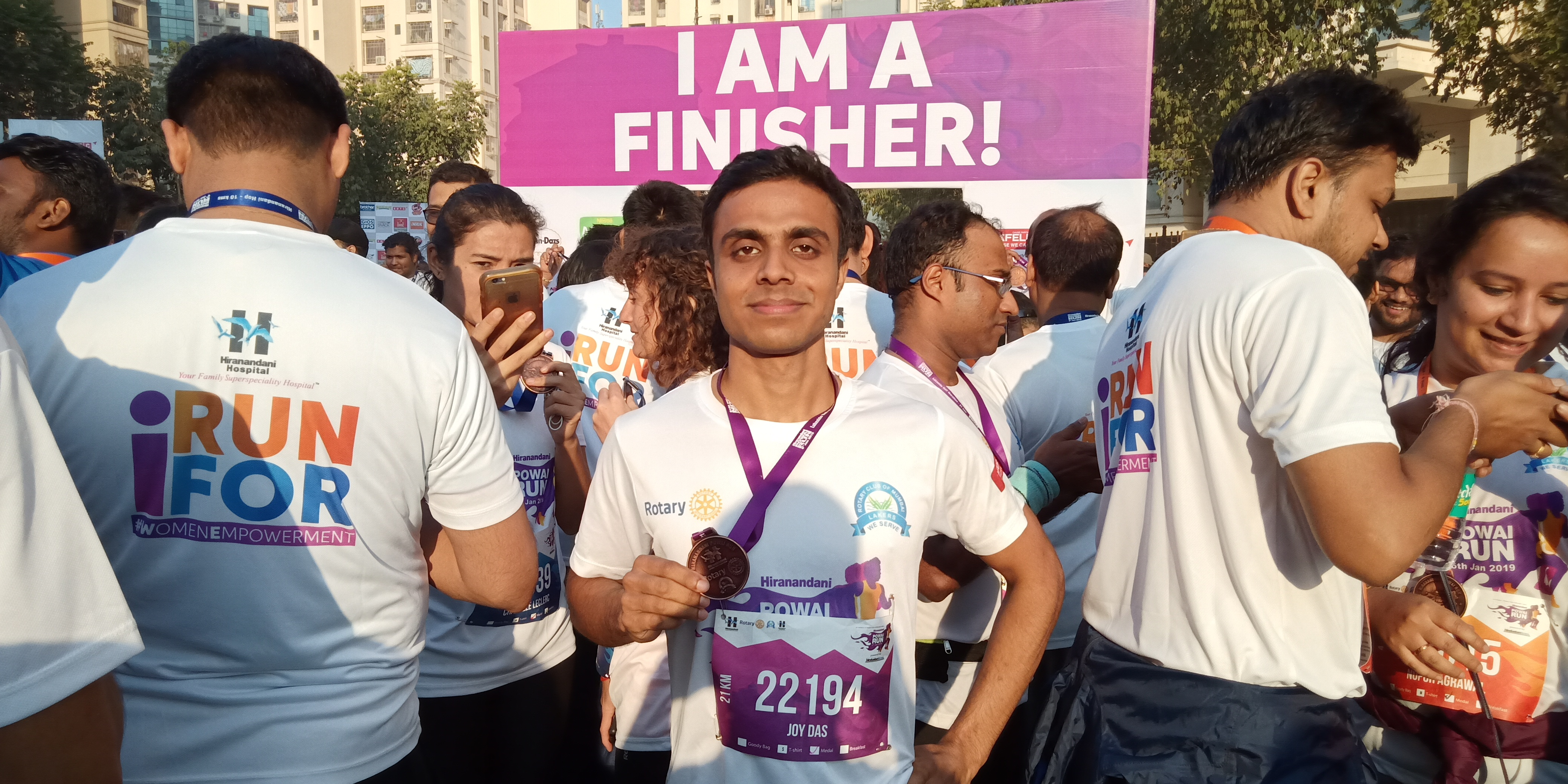 Joy's first half marathon