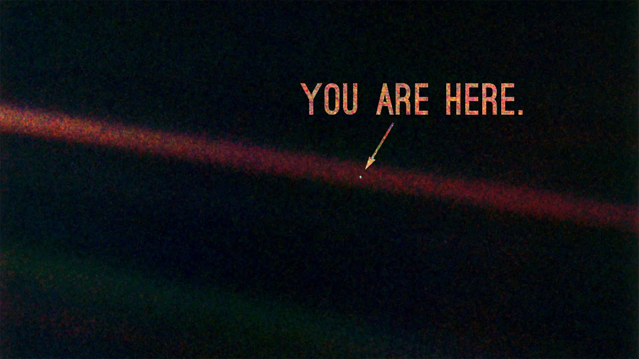 The Pale blue dot image